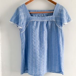 St. John's bay • striped blue babydoll top